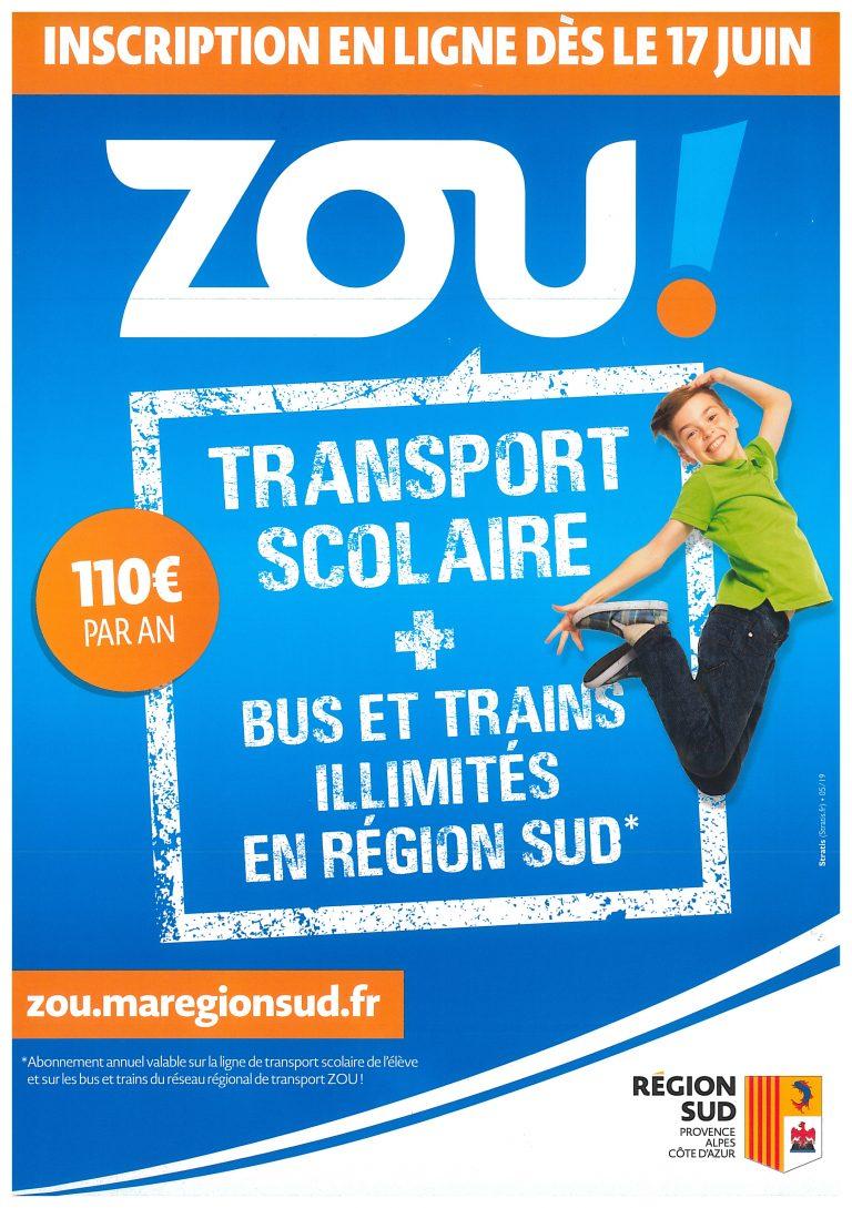 Inscription transport scolaire