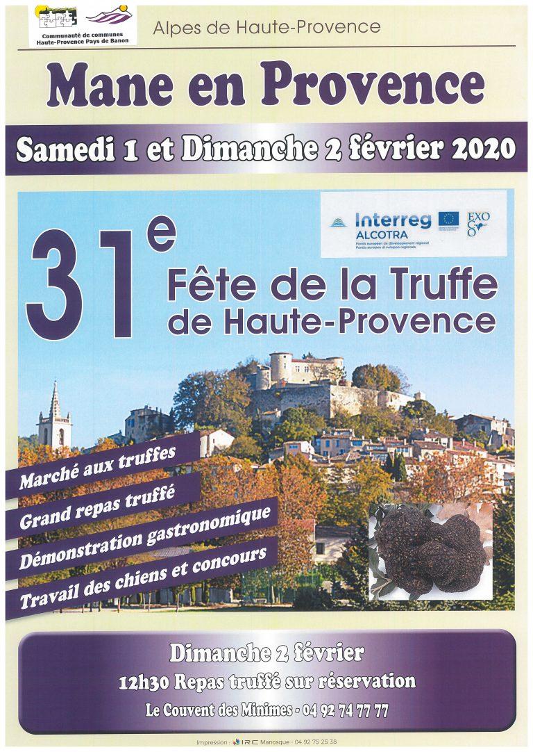 La Fête de la Truffe, les 1er et 2 Février 2020 !